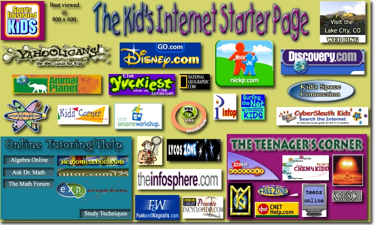 Loading the image map for The Kid's Internet Starter Page - Please wait........
